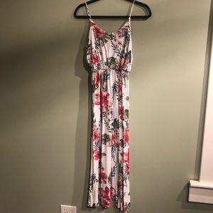 Nordstrom LUSH Knit Maxi, Tropical Palm Print